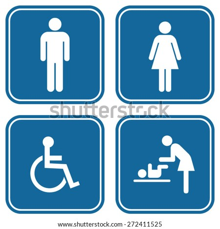 Toilet icon set - stock vector