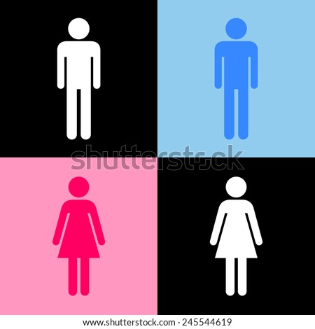 Toilet icons set great for any use. Vector EPS10. - stock vector