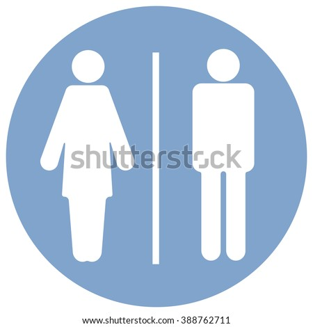 Toilet male and female. Restroom sign pointer - to show at a place or a particular room. - stock vector