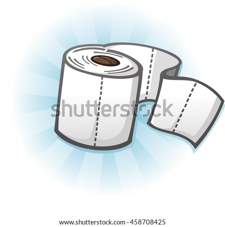 Toilet Paper Cartoon Illustration