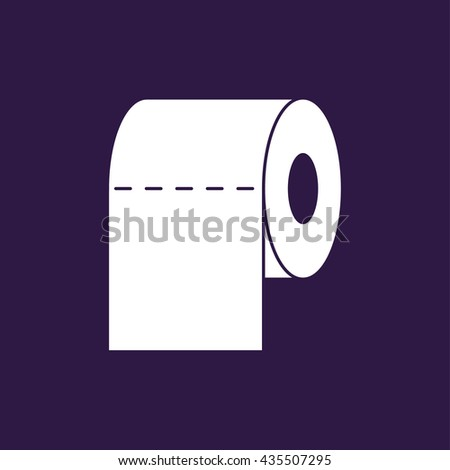 design toilet paper toilet paper flat realistic vector icon stock vector 339303326