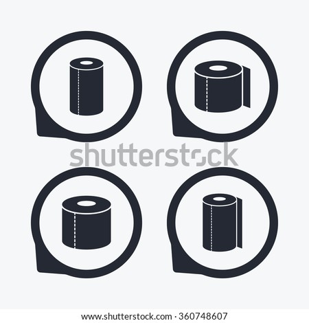Toilet Paper Icons Kitchen Roll Towel Stock Vector 360748607