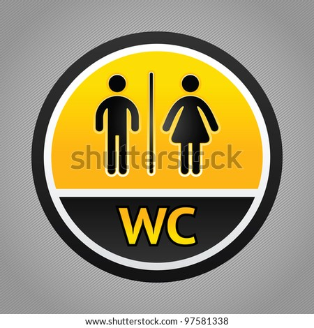 Toilet pictogram, male and female icon - stock vector