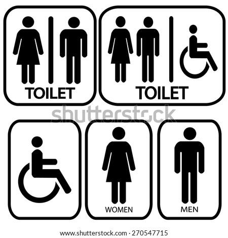 Toilet sign - stock vector