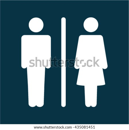 Bathroom Sign Male toilet sign male female icons toilet stock vector 435081439