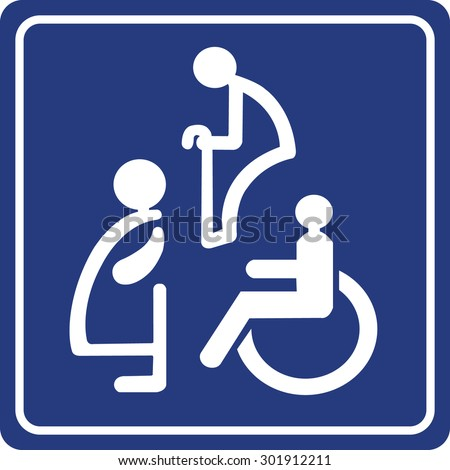 Toilet Sign Pregnant Women Aged And Handicapped