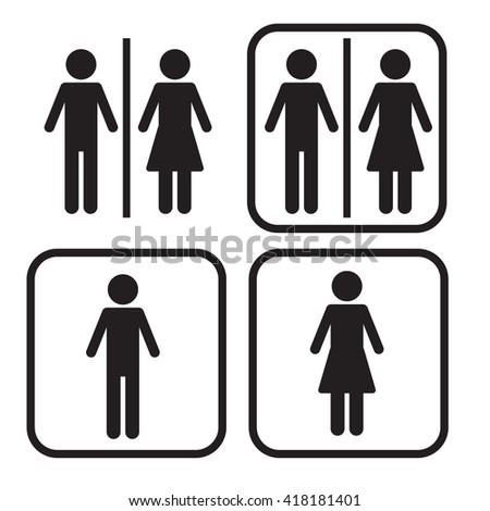 Bathroom Signs Vector bathroom sign stock images, royalty-free images & vectors