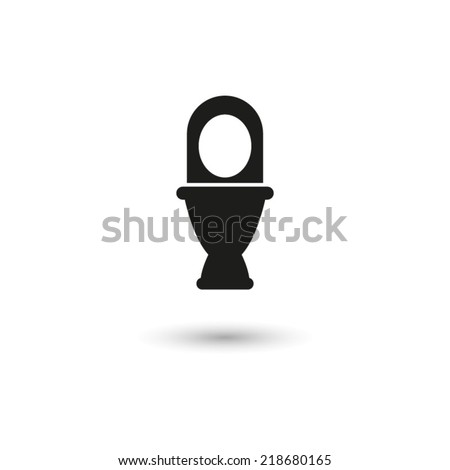 Toilet  - vector icon - stock vector