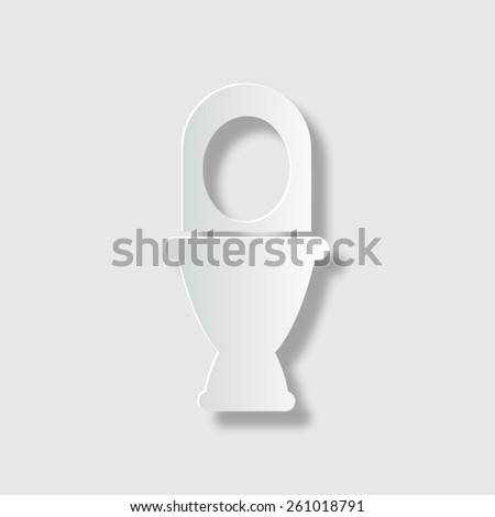 Toilet   - vector icon with shadow - stock vector
