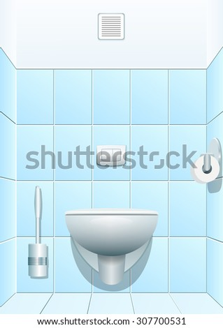 Toilet. Vector illustration - stock vector