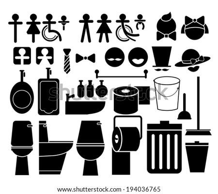 toilet vector set - stock vector