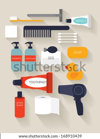 toiletries/ beauty vector/illustration - stock vector