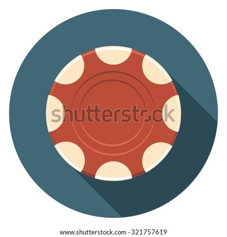 token flat icon in circle - stock vector