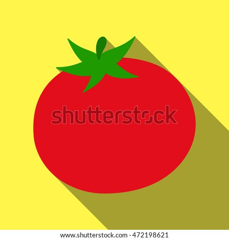 Tomato icon flat. Singe vegetables icon from the eco food flat. - stock vector