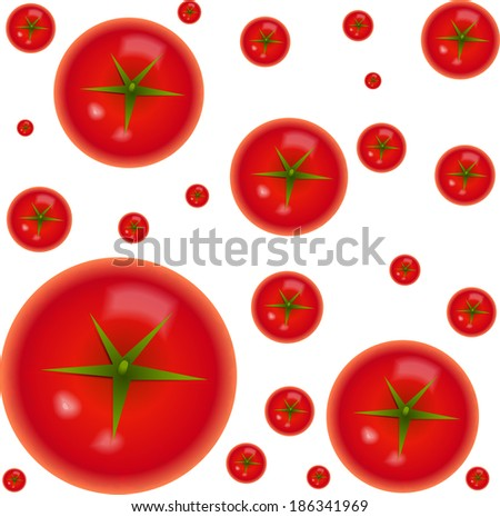 tomato pattern - stock vector