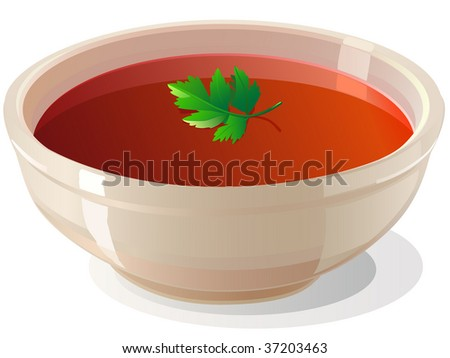 tomato soup - stock vector