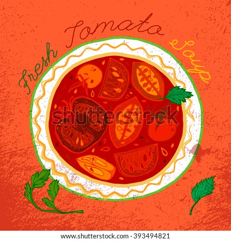 Tomato Soup Image - stock vector