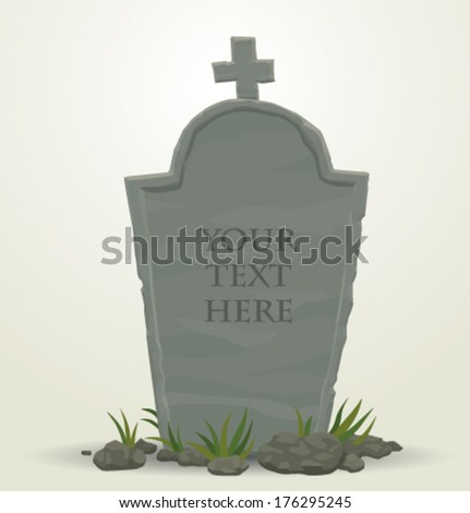 Tombstone - stock vector