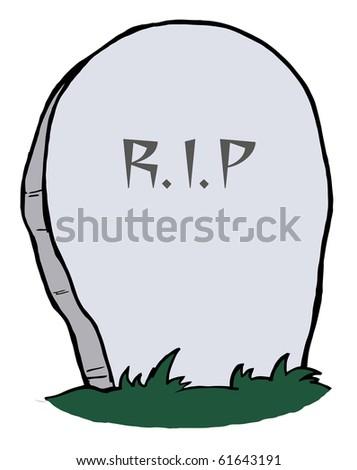 Tombstone - stock vector