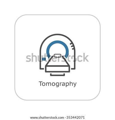 Tomography Icon. Tomography Icon Flat Design. Tomography Icon Isolated Illustration. Tomography Icon symbol. Tomography Icon app. Tomography Icon sign. Tomography Icon UI. Tomography Icon web. - stock vector