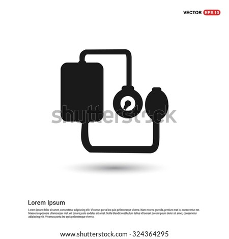 Tonometer icon blood pressure checker icon stock vector 271614611 blood pressure checker icon pictogram icon on white background vector illustration voltagebd Choice Image