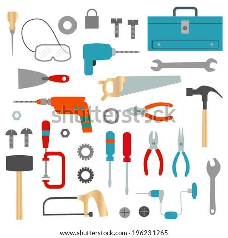 Tool and Hardware Clip Art - stock vector