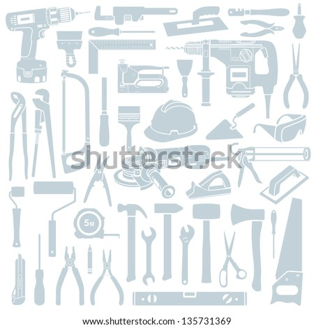Tool background - stock vector