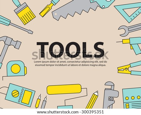 Tool Background Equipment ,vector - stock vector
