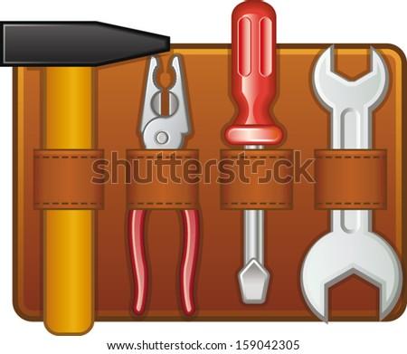 Tool bag - stock vector