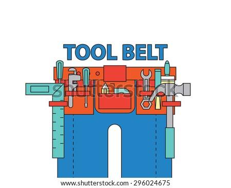 tool belt ,vector - stock vector
