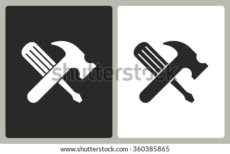 Tool    -  black and white icons. Vector illustration. - stock vector