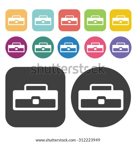Tool Box icons set. Vector Illustration eps10.  - stock vector