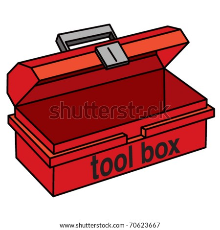 Tool Box illustration - stock vector