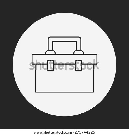 tool box line icon - stock vector