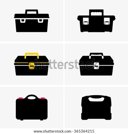 Tool boxes - stock vector