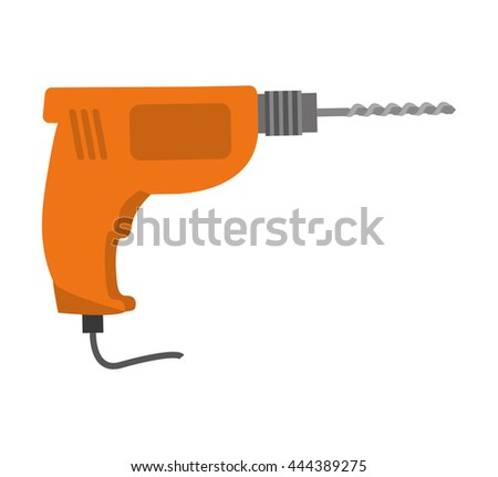 Tool concept represented by drill icon. isolated and flat illustration