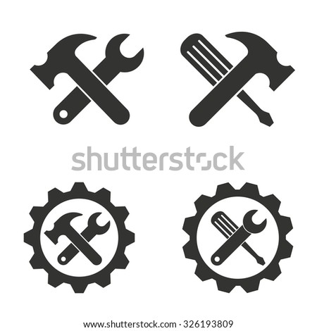 Tool   icon  on white background. Vector illustration. - stock vector