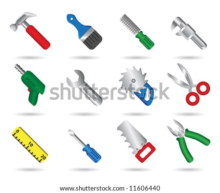Tool set - stock vector