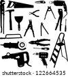 tool set - vector - stock vector