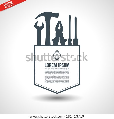 Tool shop pocket concept in vector format - stock vector