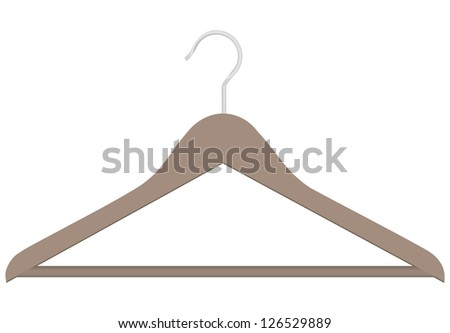 Tool to store and clothing sales. Clothes hanger. Vector illustration. - stock vector