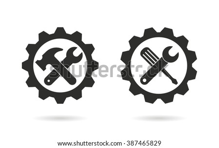 Tool    vector icon. Black  illustration isolated on white  background for graphic and web design.   - stock vector