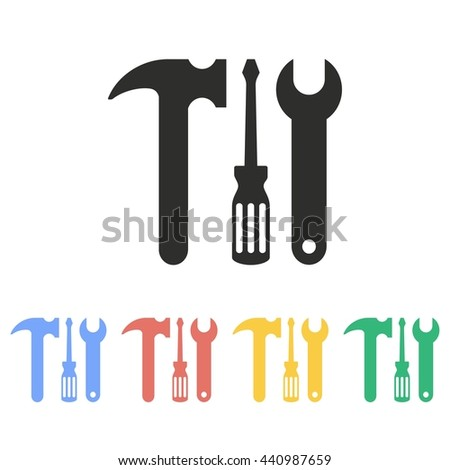 Tool vector icon. Illustration isolated on white background for graphic and web design. - stock vector