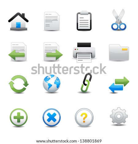 Toolbar and Website Icons - stock vector