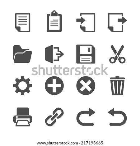 toolbar icon set, vector eps10. - stock vector