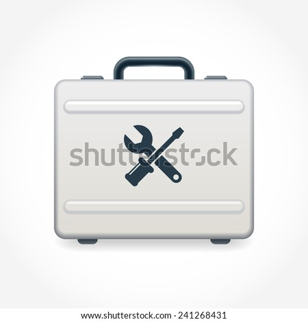 Toolbox. Container for keeping tools. Vector illustration - stock vector