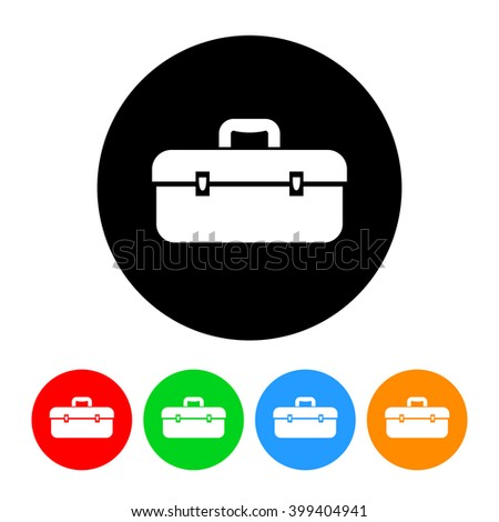 Toolbox Icon Vector with Four Color Variations - stock vector