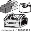 Toolboxes - stock vector