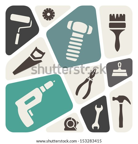 Tools background - stock vector