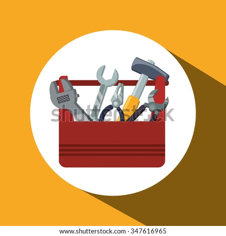 Tools concept with tools kit, design, vector illustration 10 eps graphic.